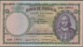 Portugal P.153b 20 Escudos 1959 (2+)