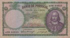 Portugal P.153b 20 Escudos 1959 (3+)