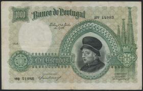 Portugal P.152 1000 Escudos 1938 (3-)