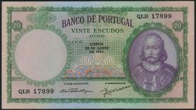 Portugal P.153a 20 Escudos 1951 (1)
