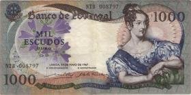 Portugal P.172b 1000 Escudos 1967 (3)