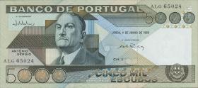 Portugal P.182d 5000 Escudos 1985 (3)