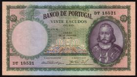 Portugal P.153a 20 Escudos 1941 (2)