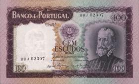 Portugal P.165 100 Escudos 1961 (2/1)