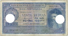 Port.-Indien / Port.-India P.37 20 Rupien 1945 entwertet (4)