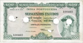 Port.-Indien / Port.-India P.45 600 Escudos 1959 entwertet (3)