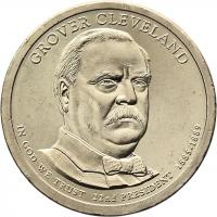 USA 1 Dollar 2012 22. Grover Clevland 1. Amtszeit