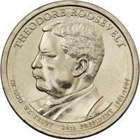 USA 1 Dollar 2013 26. Theodore Roosevelt