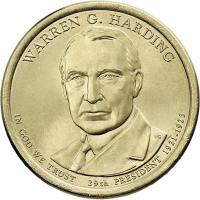USA 1 Dollar 2014 29. Warren G. Harding