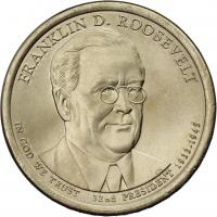 USA 1 Dollar 2014 32. Franklin D. Roosevelt