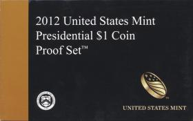 USA Präsidenten-Dollar Proof Set 2012