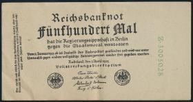 Propagandanote Reichsbanknote 500 Mal (2)