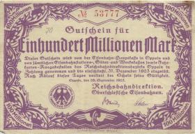 PS1348 Reichsbahn Oppeln 100 Millionen Mark 1923 (3)