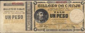 Puerto Rico P.07b 1 Peso 1895 (2/1)