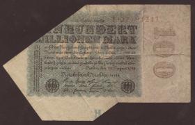 R.106 100 Millionen Mark 1923 verschnitten (3)