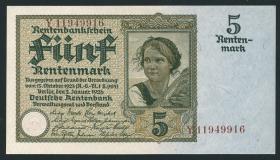 R.164F: 5 Rentenmark 1926 (1) braune Knr.