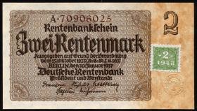 R.331F: 2 DM 1948 Kuponausgabe braune Kenn-Nummer (1)