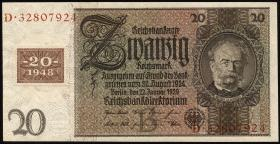 R.335a: 20 DM 1948 Kuponausgabe Siemens  (1)