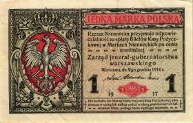 """R.440a: Besetzung Polen 1 Marka 1917 """"General"""" (3+)"""