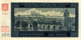 R.560e: Böhmen & Mähren 100 Kronen 1940 Specimen (1/1-)