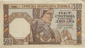 R.605b: Serbien 500 Dinara 1941 (2)