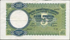 Albanien / Albania P.06 5 Franga 1939 (3)