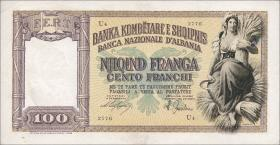 Albanien / Albania P.08 100 Franga 1940 (2)