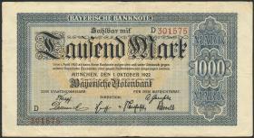 R-BAY 05a: 1000 Mark 1922 (3)