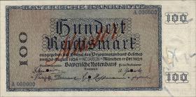 R-BAY 24M: 100 Reichsmark 1924 Muster (1)
