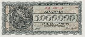 Griechenland / Greece P.128a 5 Mio. Drachmen 1944 (1)