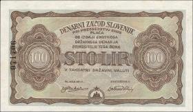 Slowenien / Slovenia P.S117 100 Lir 1944 (1)