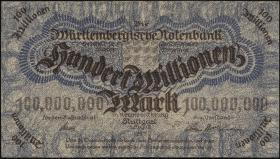 R-WTB 20: 100 Mio. Mark 1923 (2)