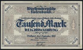 R-WTB 12a: 1000  Mark 1922 (2-)