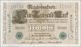 R.046b 1000 Mark 1910 grün 7-stellig (1/1-)