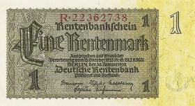 R.166b: 1 Rentenmark 1937 Reichsdruck (1)