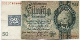 R.337b: 50 Mark 1948 Kuponausgabe  (3+)