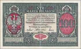 """R.455: Besetzung Polen 100 Marek 1917 """"General"""" (3)"""