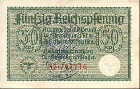 R.550c:  50 Rpfg. (1939) Bel. Gemeindestempel (2)
