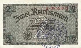 R.552e: 2 Reichsmark (1939) Bel. Gemeindestempel (2)
