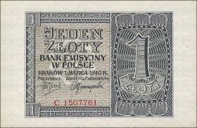 R.571: Generalgouv. Polen 1 Zloty 1940 (1)