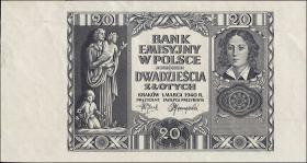 R.575Y: Generalgouv. Polen 20 Zlotych 1940 (2)