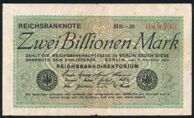 R.132a: 2 Billionen Mark 1923 (3-)
