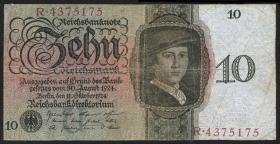 R.168a 10 Reichsmark 1924 U/R (3)