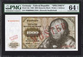 R.268M 1000 DM 1960 MUSTER / SPECIMEN (1)