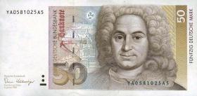 R.293b 50 DM 1989 YA Ersatznote (1)