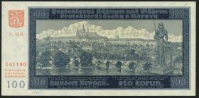 R.560d: Böhmen & Mähren 100 Kronen 1940 B II. Auflage (1)