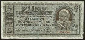 R.593: Besetzung Ukraine 5 Karbowanez 1942 (4)