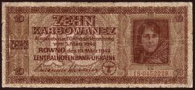 R.594: Besetzung Ukraine 10 Karbowanez 1942 (4)