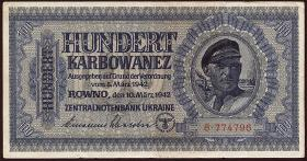 R.597a: Besetzung Ukraine 100 Karbowanez 1942 (3)