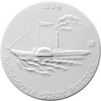 Meissen - Rostock, Raddampfer 1834
